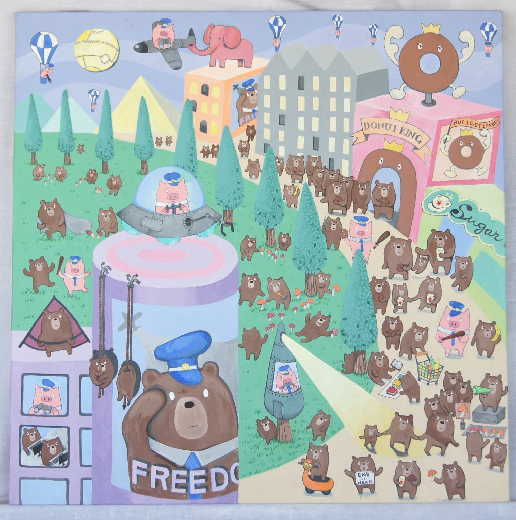 FREEDOM OR LIBERTY?  -  acrylic on canvas