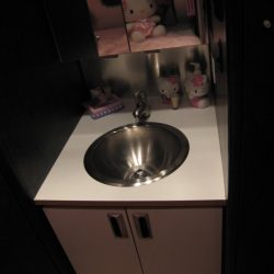 Hello Kitty Airlin Streamer bathroom sink